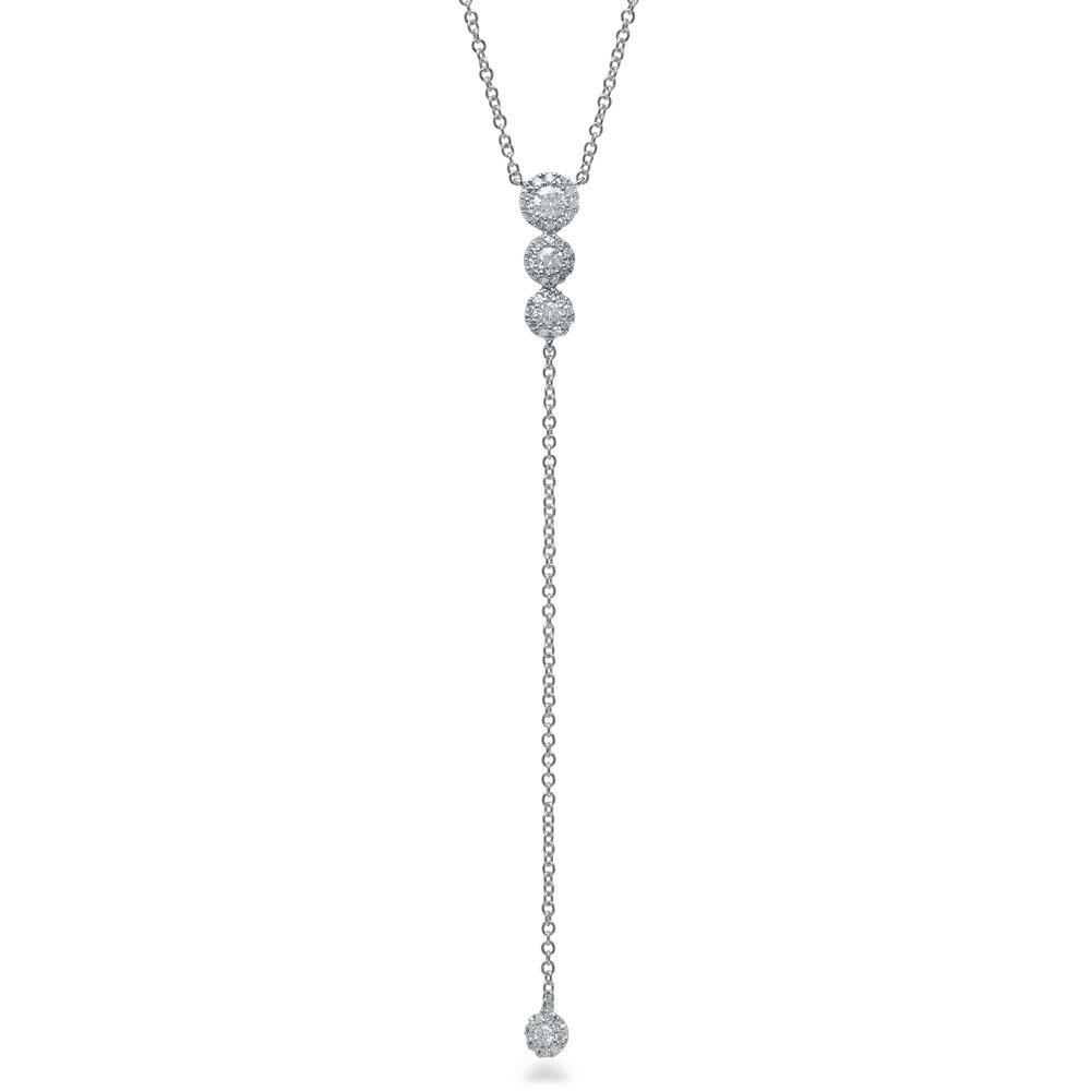 5abbe4863cd0a5 0.29ct 14k White Gold Diamond Lariat Necklace