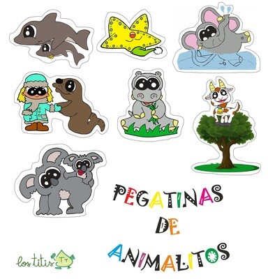 Pegatinas de animalitos - Descargable