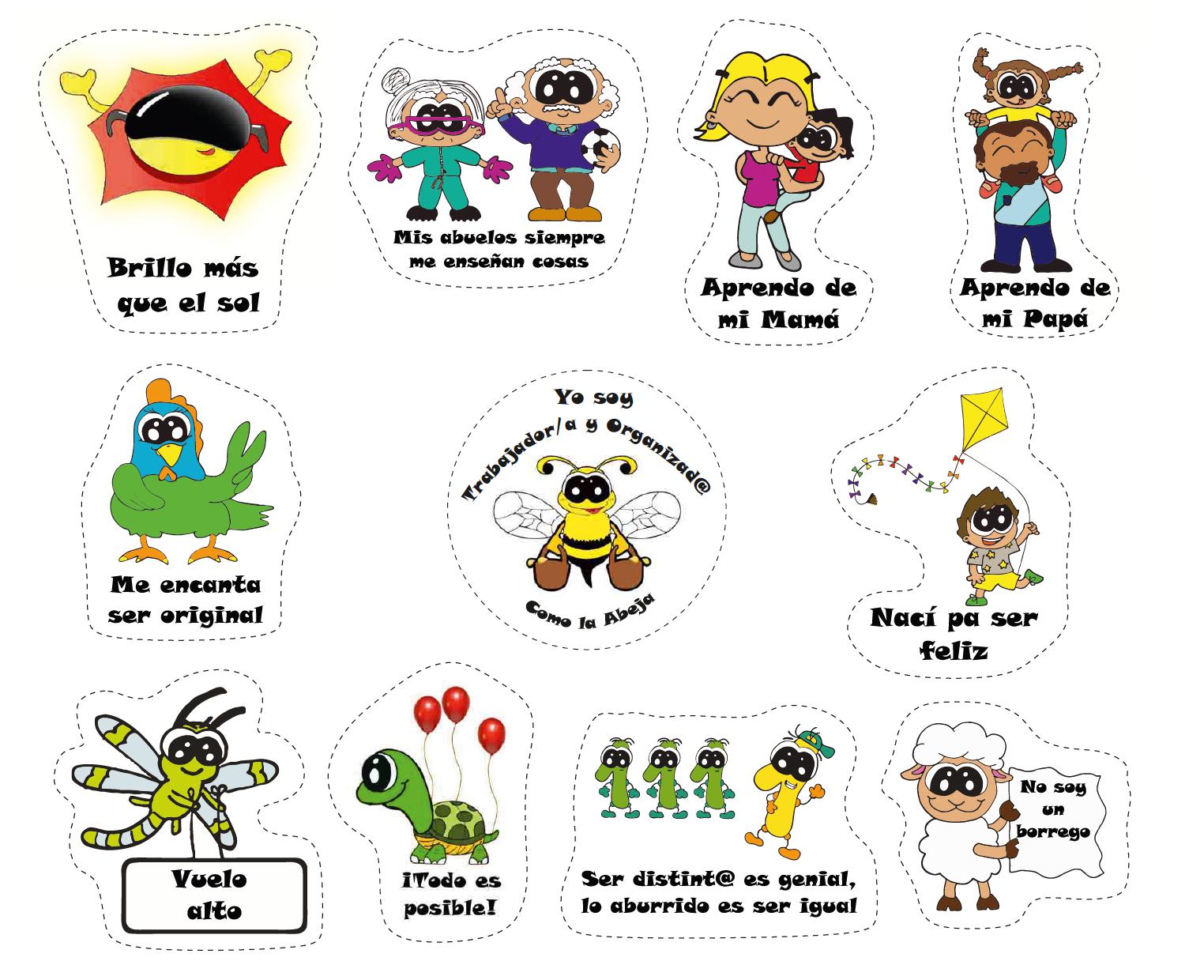 Pegatinas de motivación infantil - Los Titis 00001P