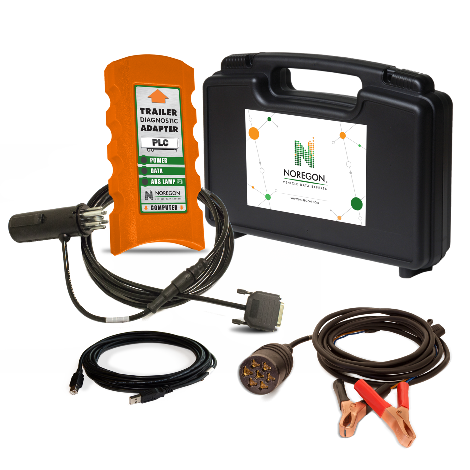 Noregon® Trailer Diagnostic Adapter Kit w/Power Supply Cable