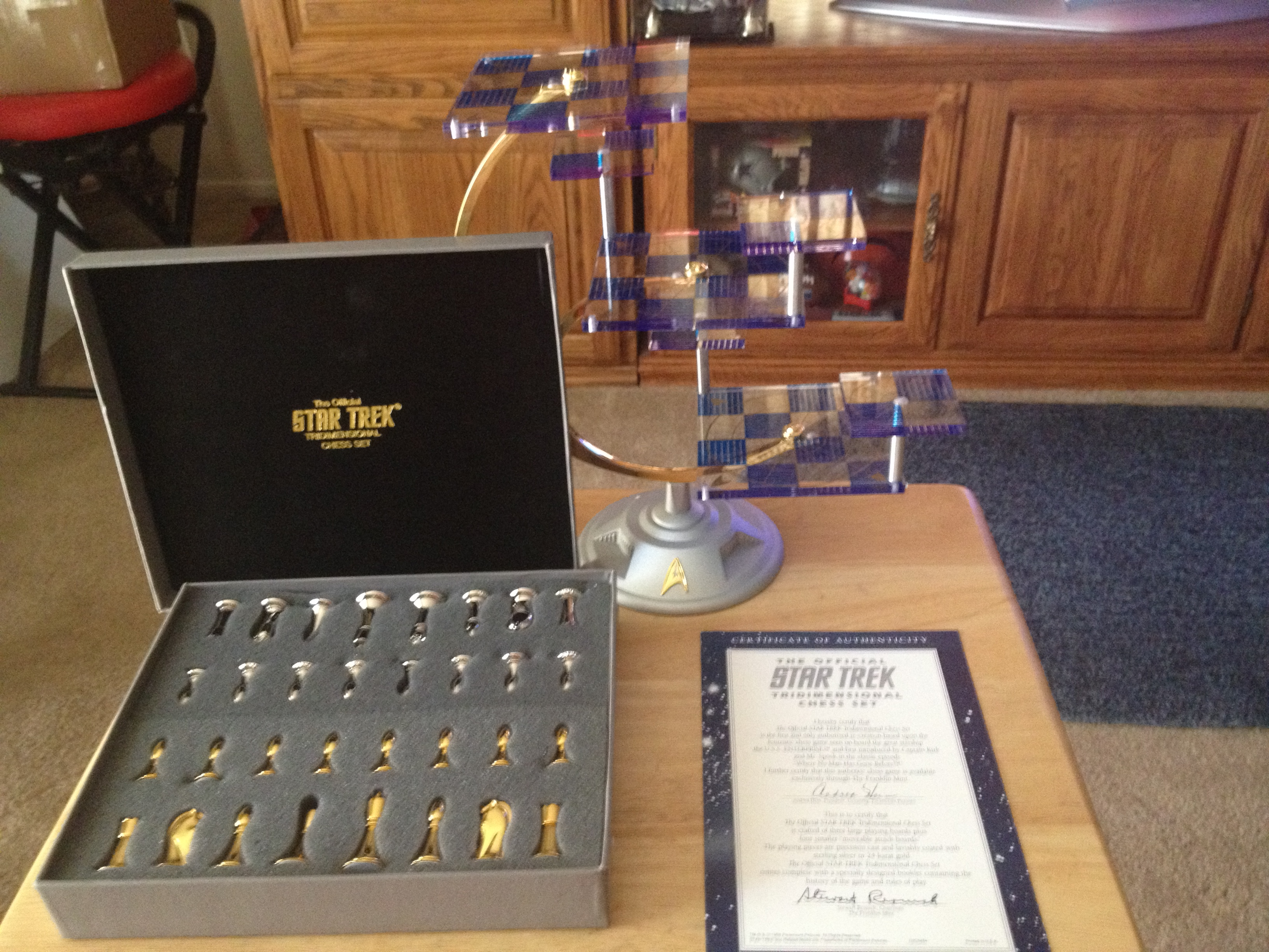 Star Trek Tri Dimensional Chess Set By The Franklin Mint