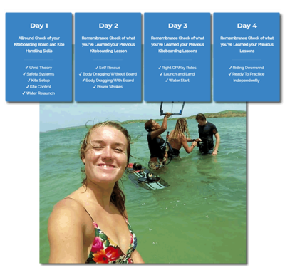 4 DAYS KITESURFING LESSONS CURACAO