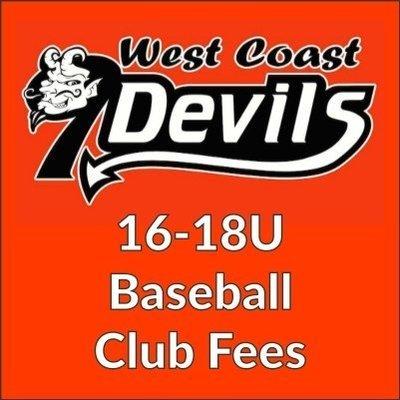 West Coast Nine Devils 16-18U Club Fees