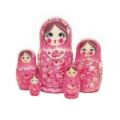 Матрёшка Семеновская «Ягодный сарафан» авторская 5 кукол