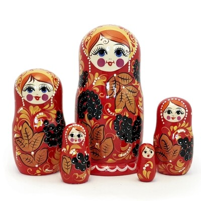 Матрешка Семеновская «Ягодка» 5 кукол