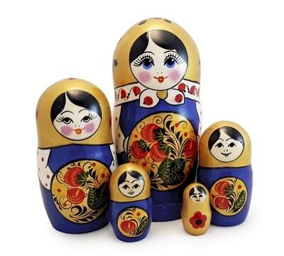 Матрёшка Семеновская «Заволжская ягода» (5 кукол)