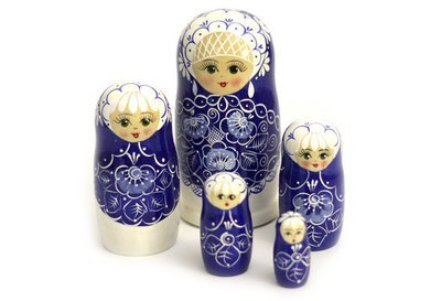 Матрёшка Семеновская авторская «Жемчуг» 5 кукол
