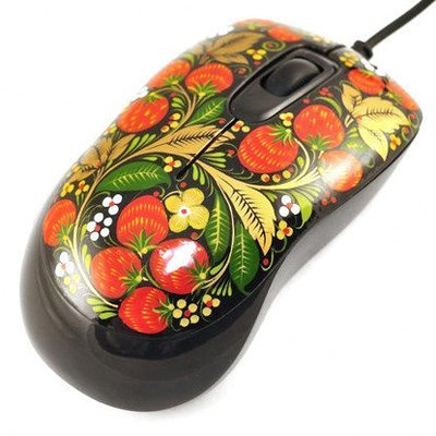 Мышка Хохлома, Вернисаж M001-11, проводная, Defender