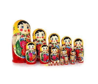 Матрёшка Семеновская «Россияночка» 20 кукол