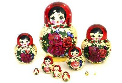 Матрёшка сувенирная «Россияночка» 10 кукол