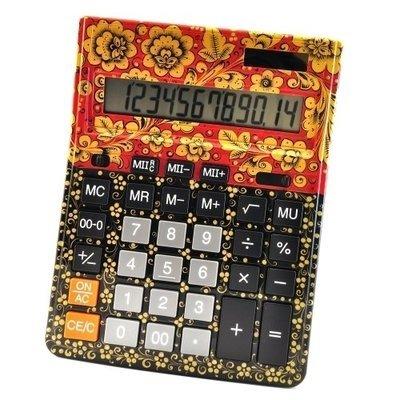 Калькулятор Хохлома, Вернисаж Z013-22, настольный, Citizen