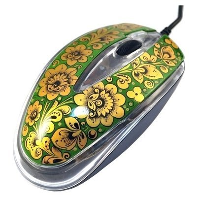 Мышка Хохлома, Вернисаж M003-15, проводная, A4Tech