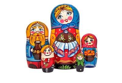 Матрёшка Семеновская «Добрые традиции» авторская 5 кукол