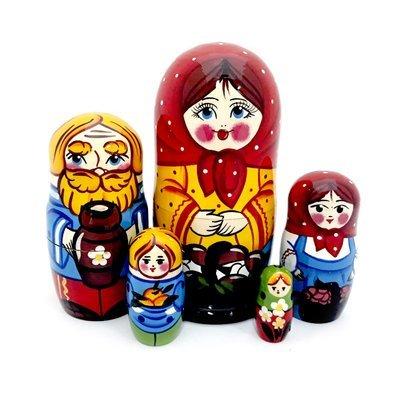 Матрёшка Семеновская «Грибное лукошко» авторская 5 кукол