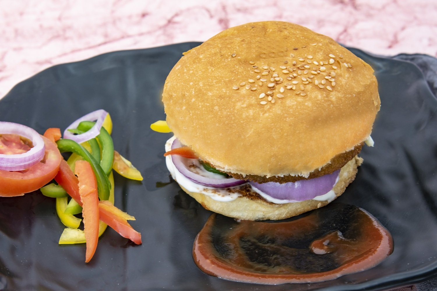 Chicken Kheema Burger