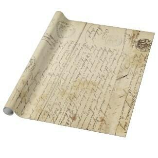 Script Letter 60lb Decoupage Matte Wrapping Paper