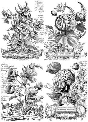 Classic Bouquets Paintable  24×33 Decor Transfer
