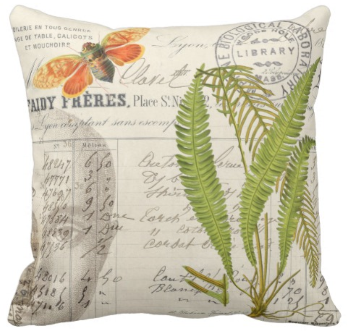 Apothecary Style Throw Pillow