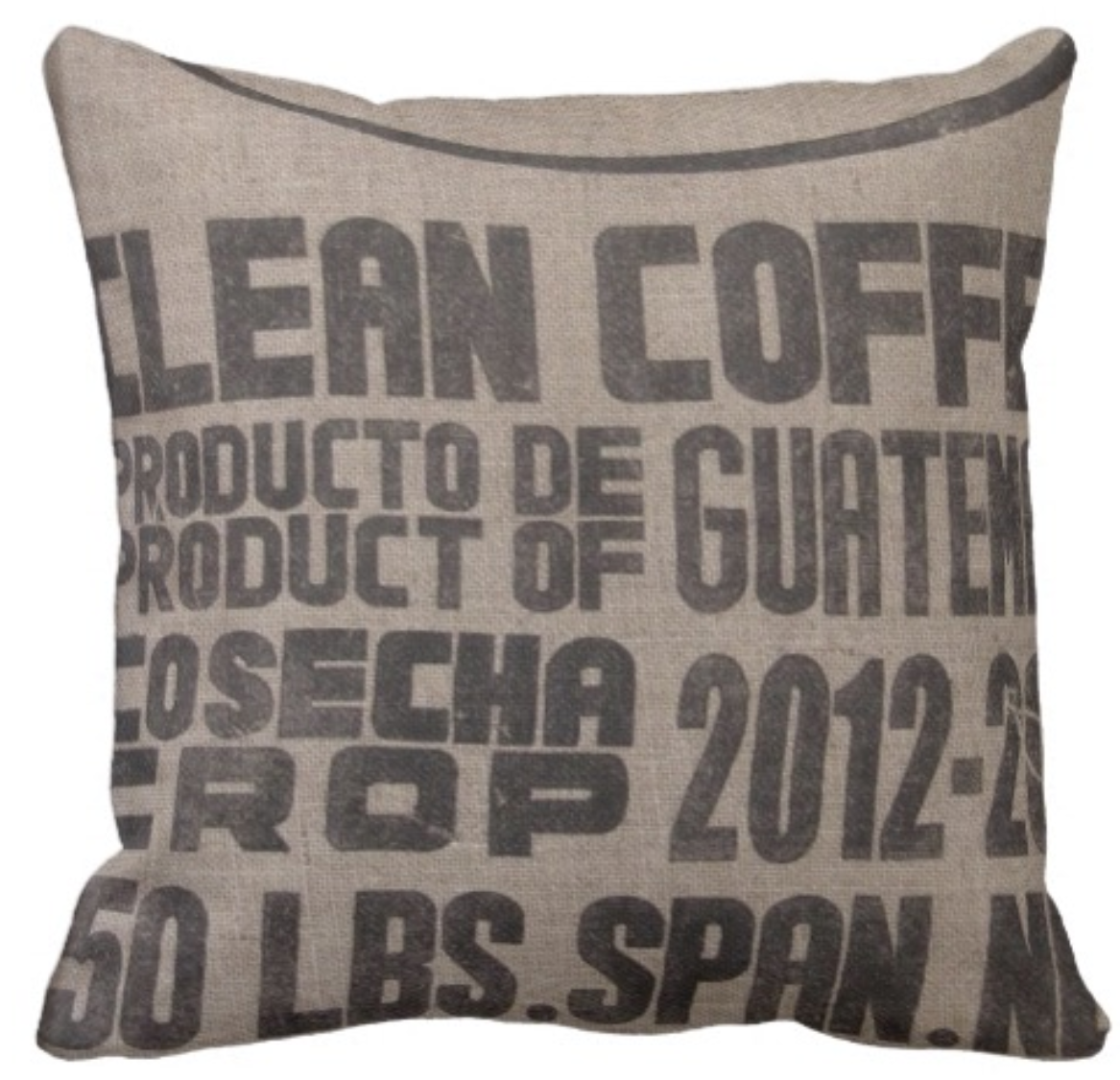 Typography Pillow (Coffee Sack/Subway Sign)