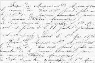 Vintage Script Decoupage Sheet Landscape 20