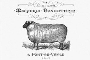 Vintage French Sheep Decoupage Sheet Landscape 20
