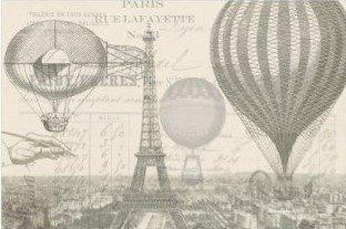 """Balloon Ephemera Decoupage Sheet 20"""" x 30"""" (two sheets)"""
