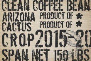 "Coffee Sack Decoupage Sheet 20"" x 30"" (two sheets)"