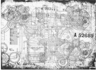 Grunge Gear Decoupage Tissue Paper 20