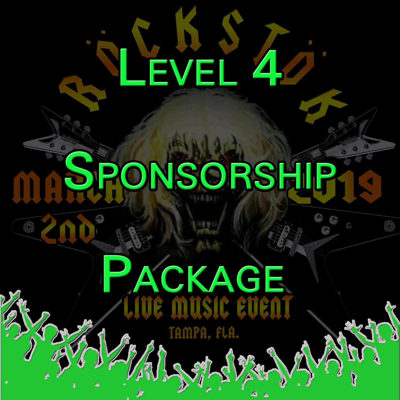 Level 4 Sponsorship Package