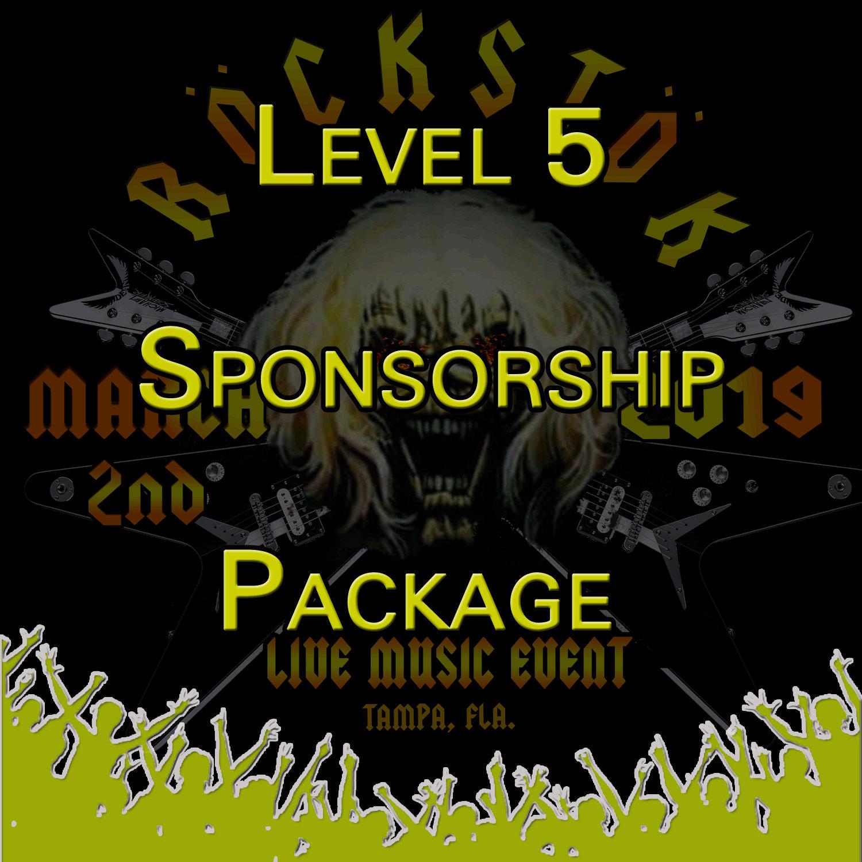 Level 5 Sponsorship Package Level5