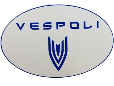VESPOLI Logo Sticker, Oval
