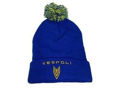Pom Pom Ski Cap, VESPOLI, Blue