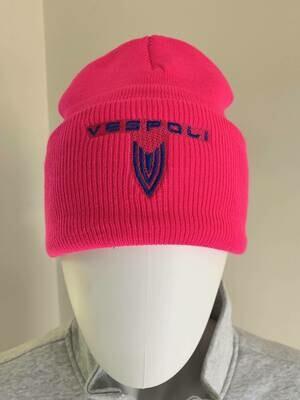 Knit Ski Cap, Neon Pink