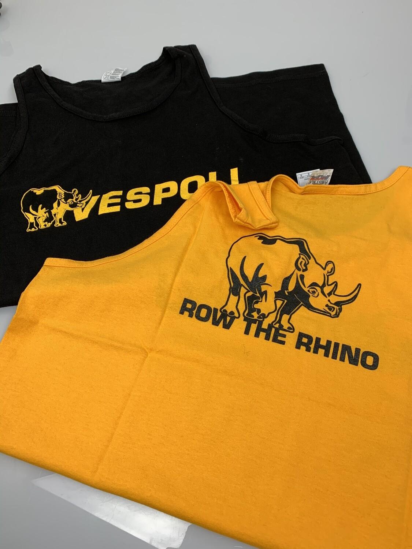 """VESPOLI """"Row the Rhino"""" Tank Tops"""