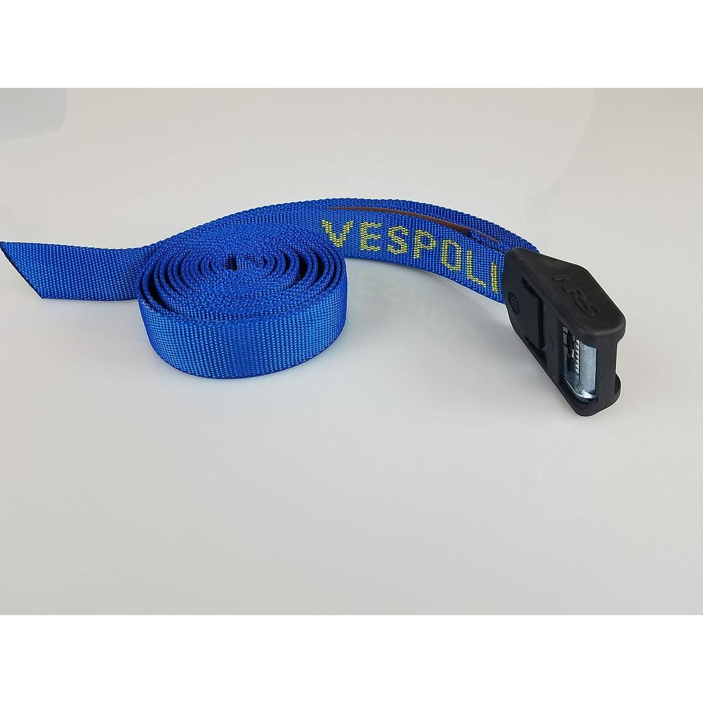9' Blue - Tie Down Boat Strap with Bumper