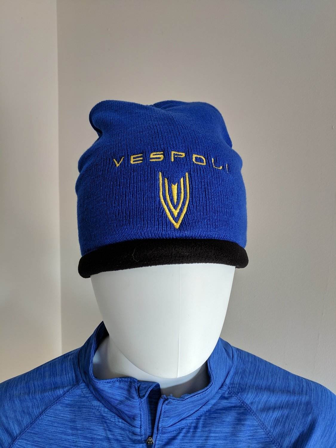 Ski Cap, Fleece Lined, VESPOLI, Blue