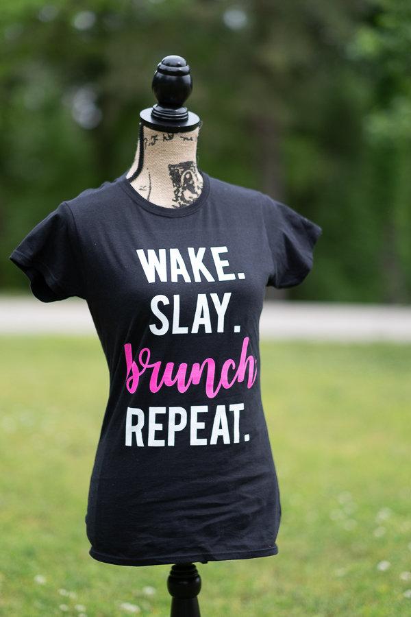 "'Wake Slay Brunch Repeat"" Tee"