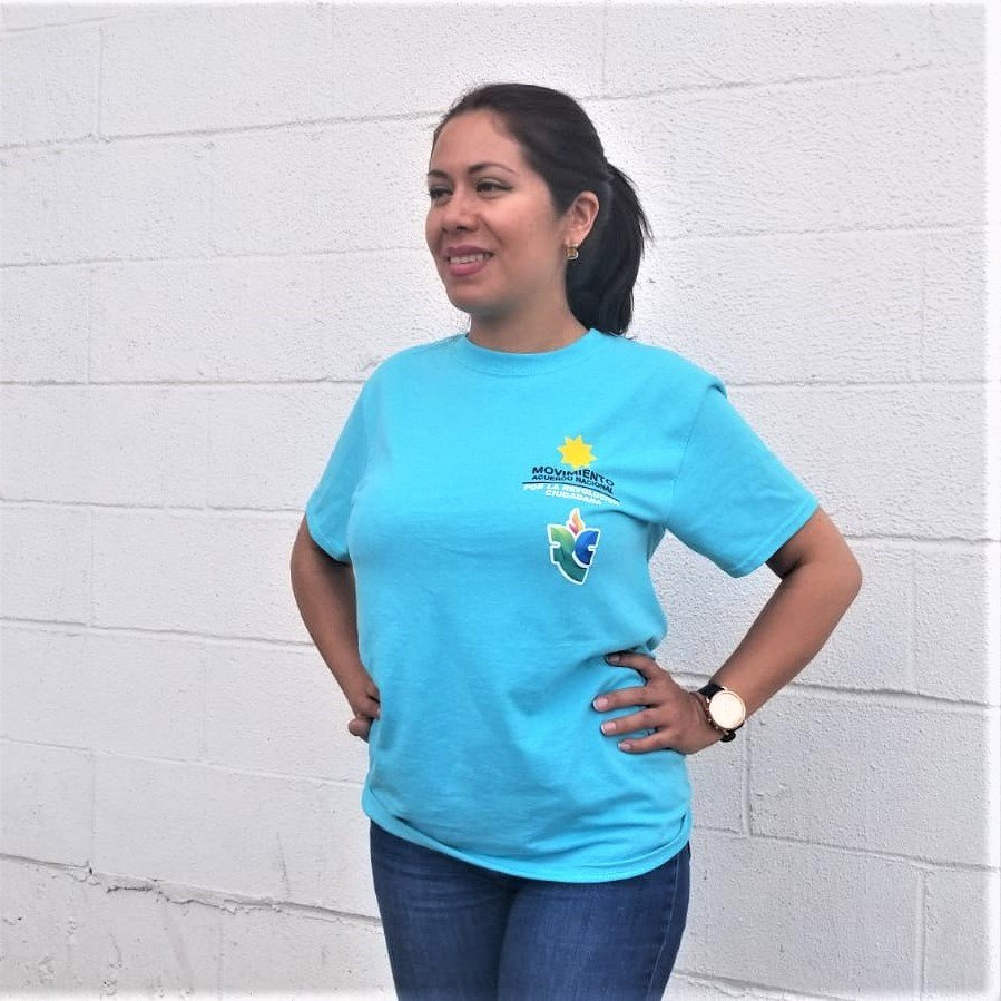 Camiseta Unisex sin cuello - Acuerdo Nacional -Revolución Ciudadana 00002