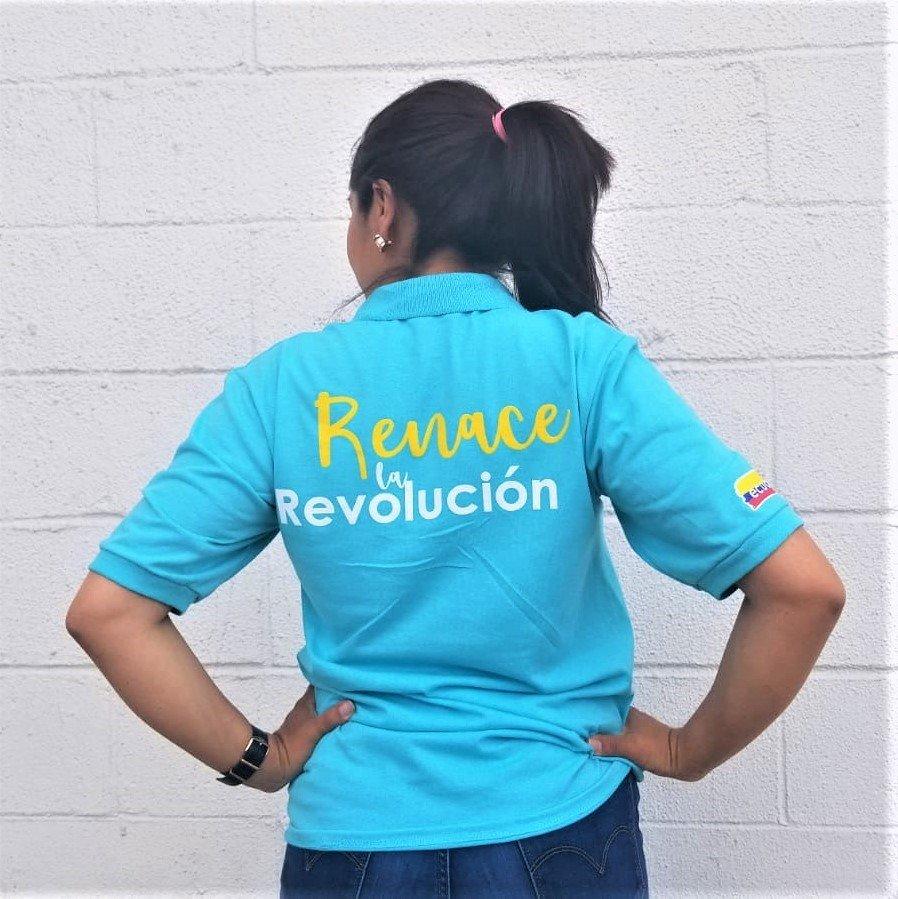 Camiseta unisex con cuello Acuerdo Nacional -Revolución Ciudadana