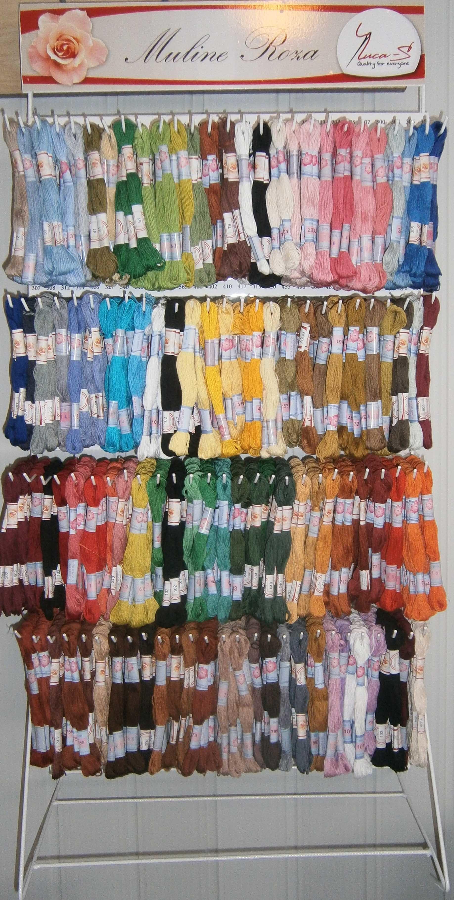 ВСІ Нитки MULINE ROSA для вишивання - 108 кольорів ( упаковка - 12 мотків  по 8 м.) c12dff1a09d02