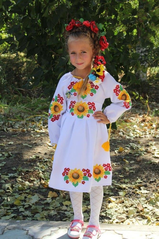 сукня дитяча вишивана з квітами (Арт. 00608) 8d6c7bc3d3b0d