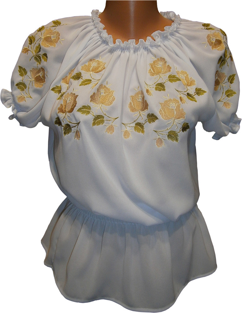 вишиванка жіноча з квітами (Арт. 00479) 317adee3774ff