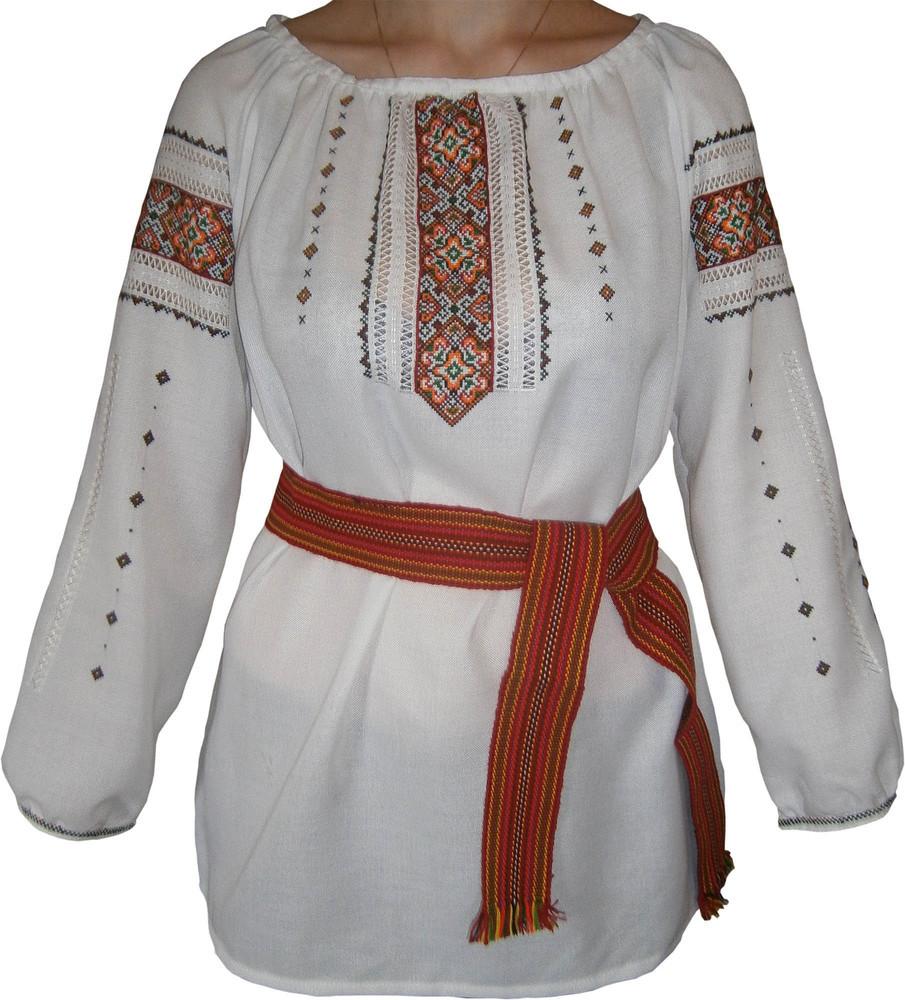 вишиванка жіноча на домотканому полотні (Арт. 00501) 3182dee90f4df