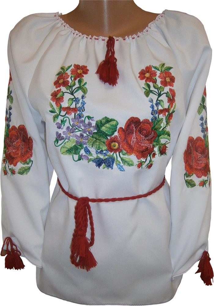 вишиванка жіноча з квітами (Арт. 00497) 8c6dc46207ebc