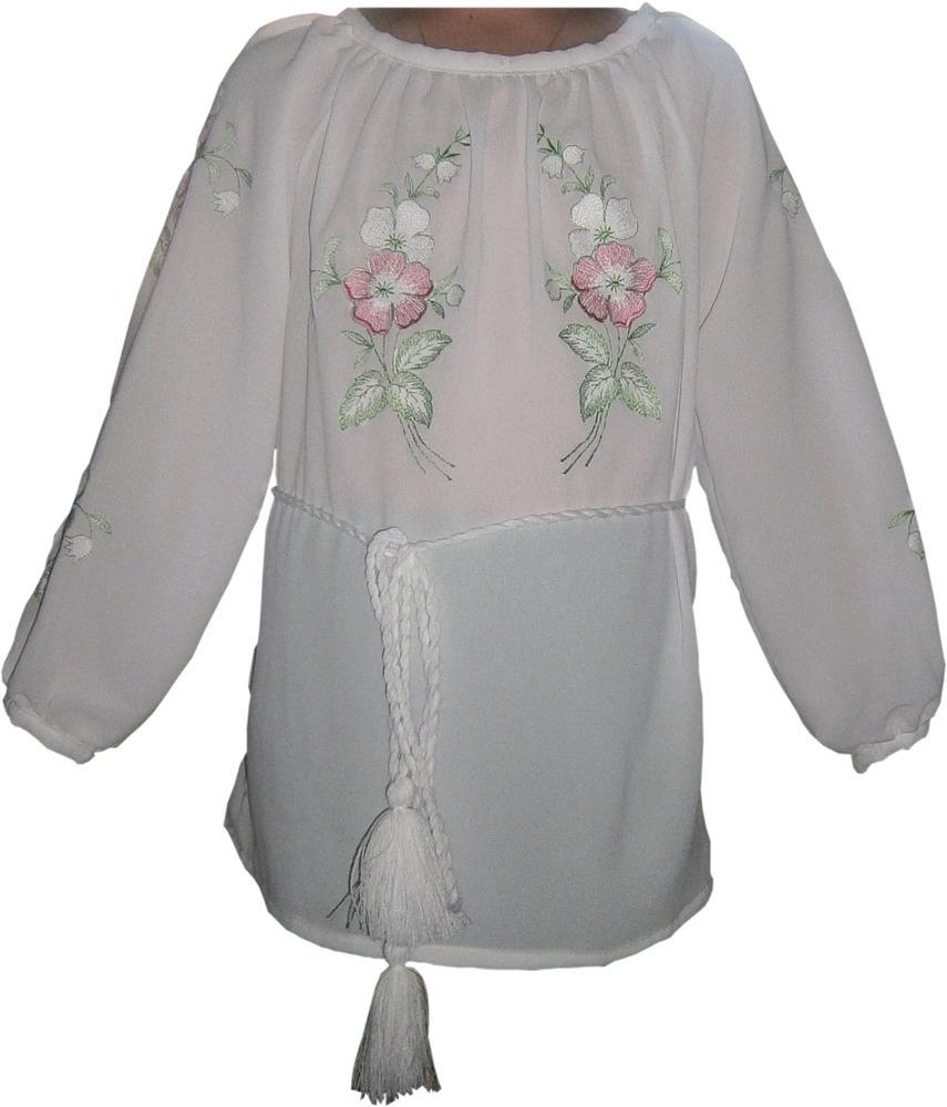 вишивана блузка дитяча з квітами (Арт. 00319) 358d093a6b090