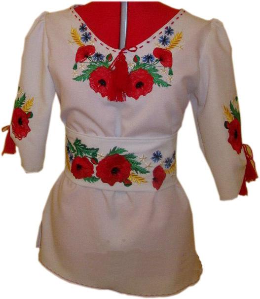 вишиванка жіноча з квітами (Арт. 00350) 54434c8b81097