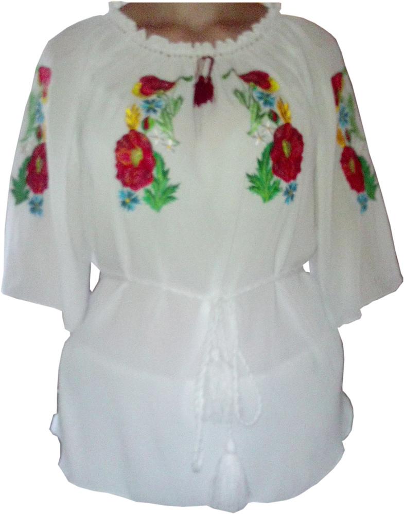 вишиванка жіноча з квітами (Арт. 00313) 405cffd21ad9d
