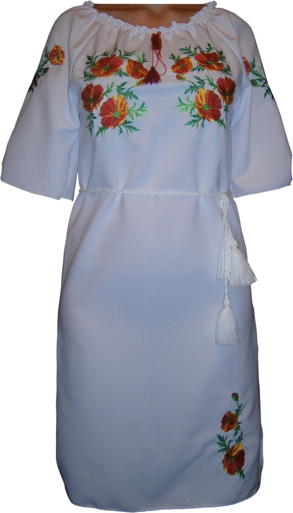52973c7c39bab0 #вишиванка, сукня вишивана з квітами (Арт. 00334)