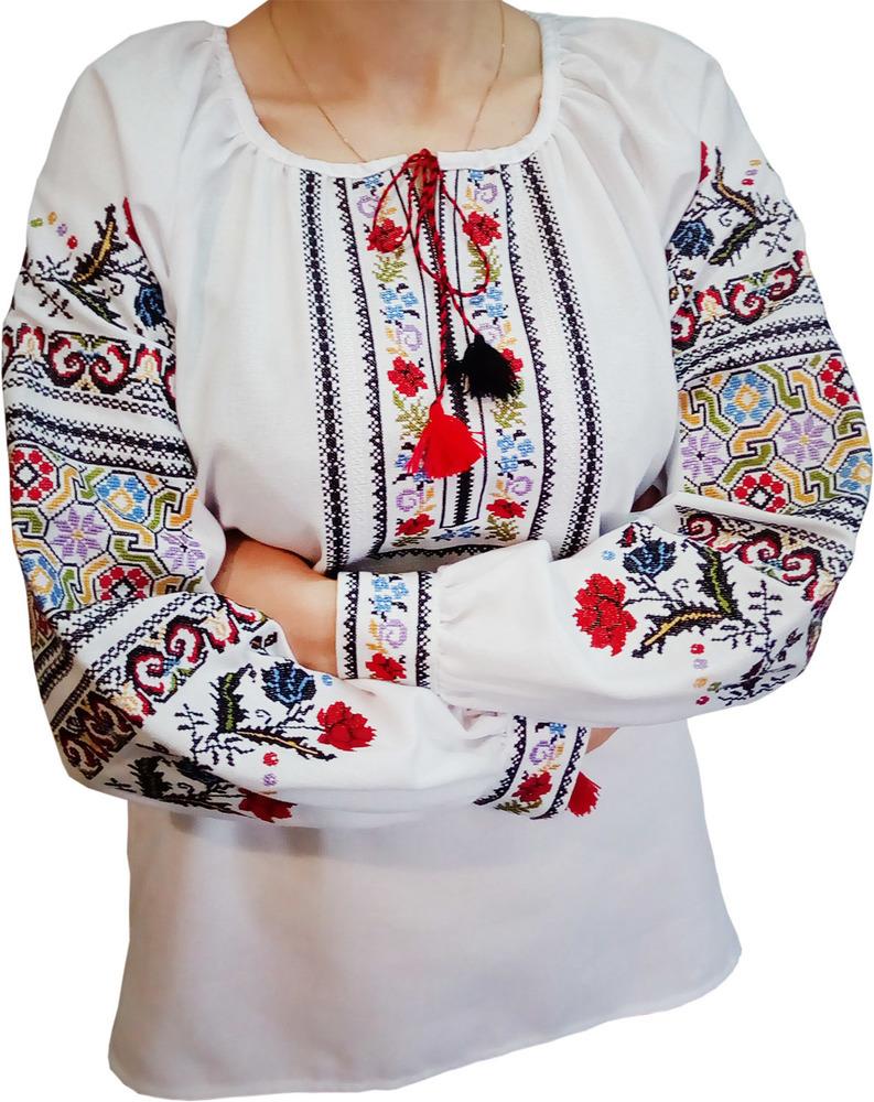 Жіноча вишиванка - вишивана сорочка з унікальним орнаментом (Арт. 01750) b314a95197f43