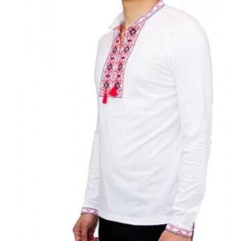 футболка чоловіча з патріотичною вишивкою
